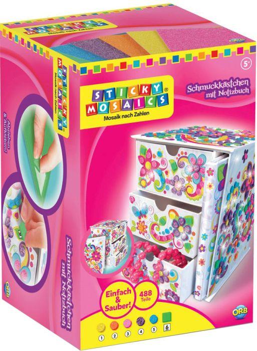 Sticky Mosaics Schmuckkästchen + Notizbuch