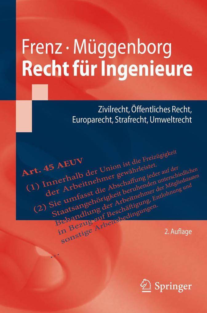 Recht für Ingenieure als eBook Download von Wal...