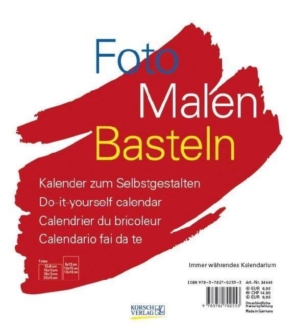 Foto-Malen-Basteln weiß (klein) als Kalender