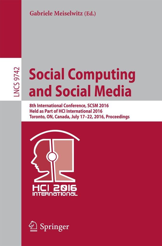 Social Computing and Social Media als eBook Dow...
