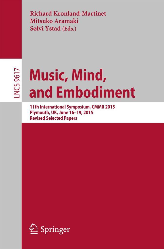 Music, Mind, and Embodiment als eBook Download von