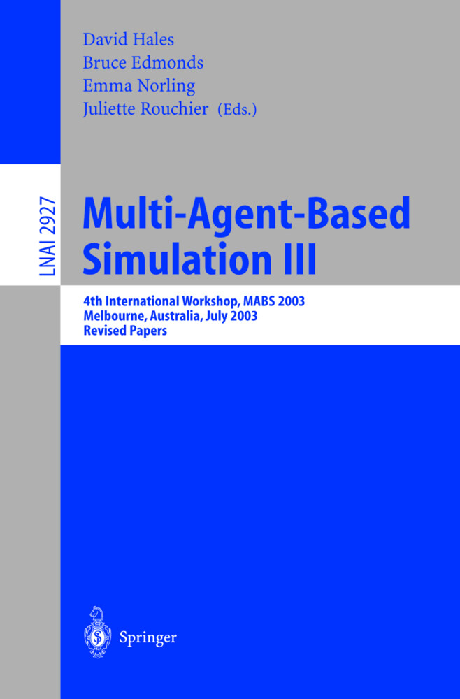 Multi-Agent-Based Simulation III als Buch