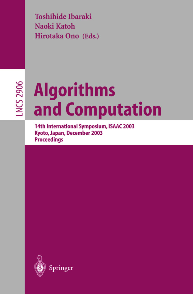 Algorithms and Computation als Buch