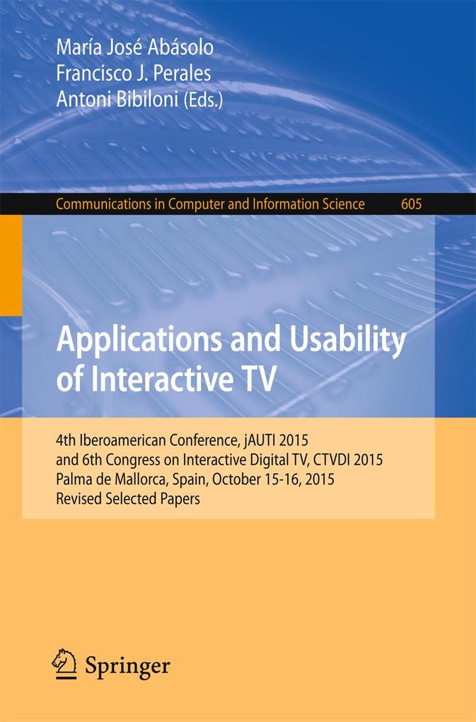 Applications and Usability of Interactive TV al...