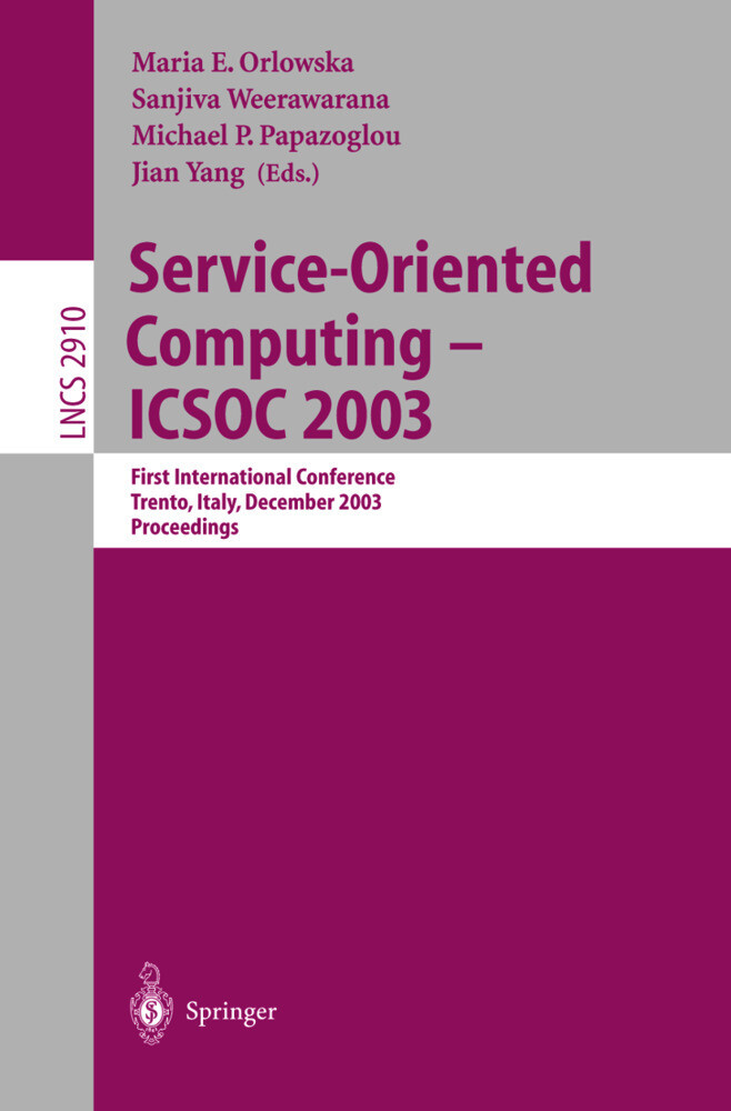 Service-Oriented Computing -- ICSOC 2003 als Buch