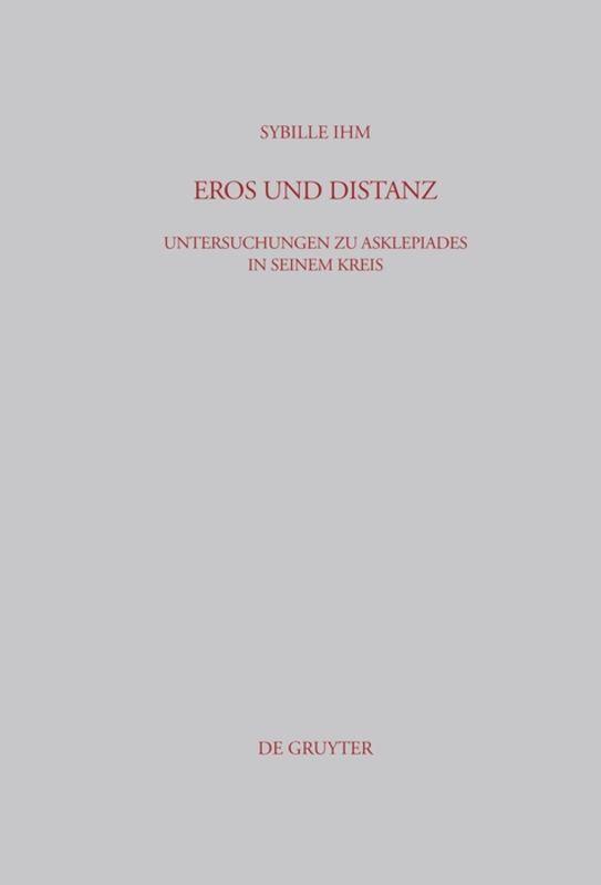 Eros und Distanz als Buch