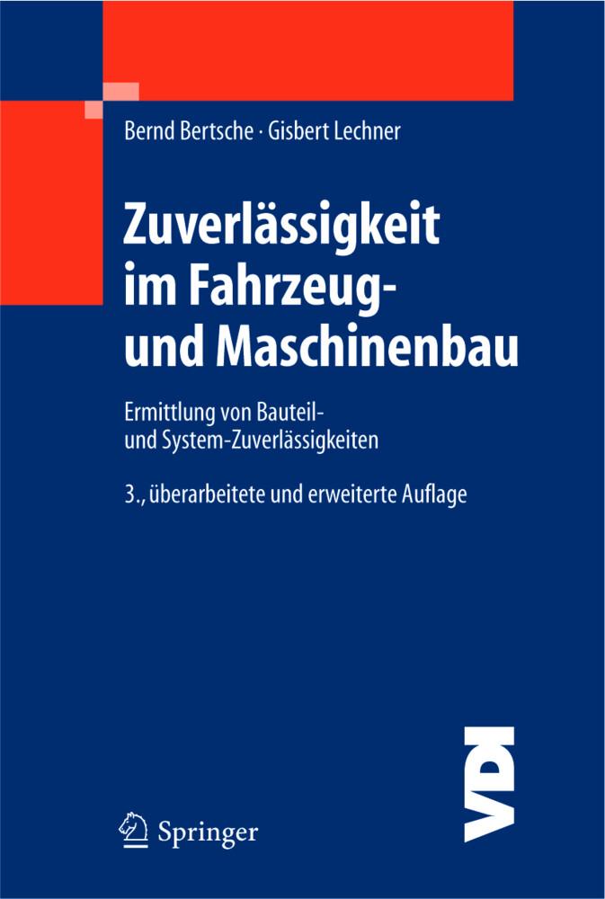 Zuverlässigkeit in Maschinenbau und Fahrzeugtechnik als Buch