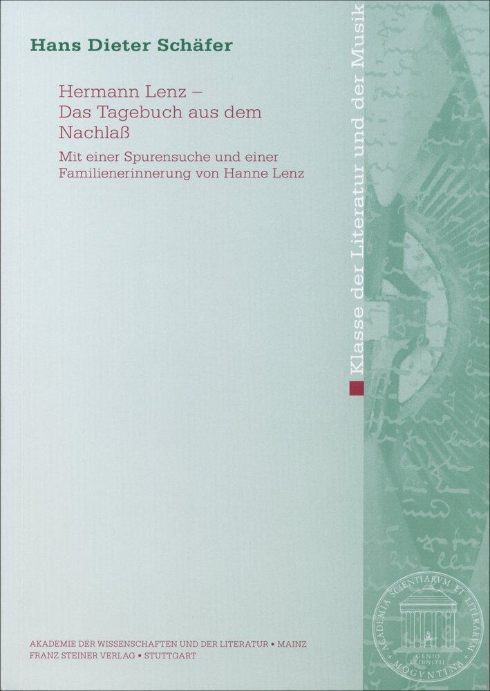 Hermann Lenz - Das Tagebuch aus dem Nachlaß als Buch (kartoniert)
