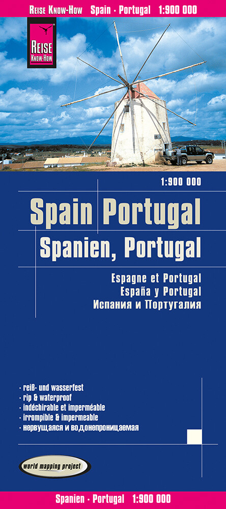Reise Know-How Landkarte Spanien, Portugal 1:90...