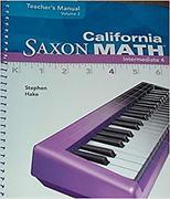 SAXON MATH INTERMEDIATE 4 CALI