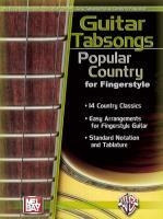 Guitar Tabsongs: Popular Country for Fingerstyle als Taschenbuch
