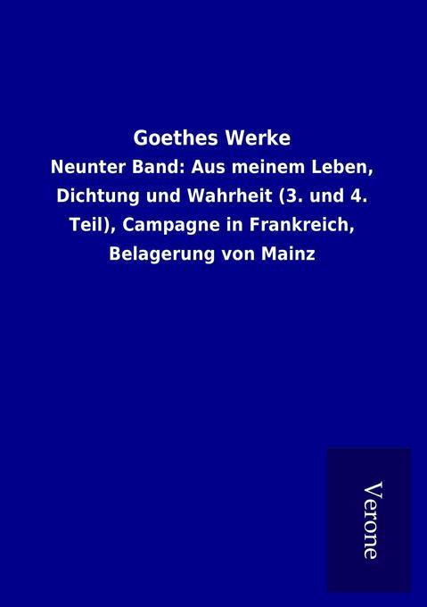 Goethes Werke als Buch von ohne Autor
