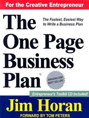 The One Page Business Plan: Start with a Vision, Build a Company! [With Online Information] als Taschenbuch