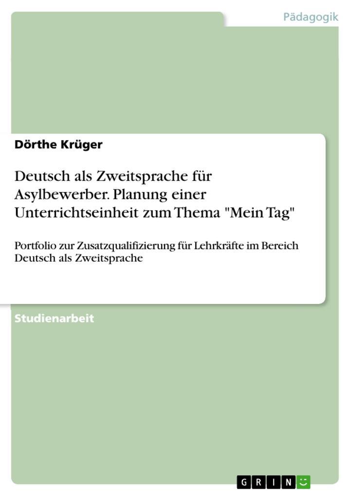 Deutsch als Zweitsprache für Asylbewerber. Plan...
