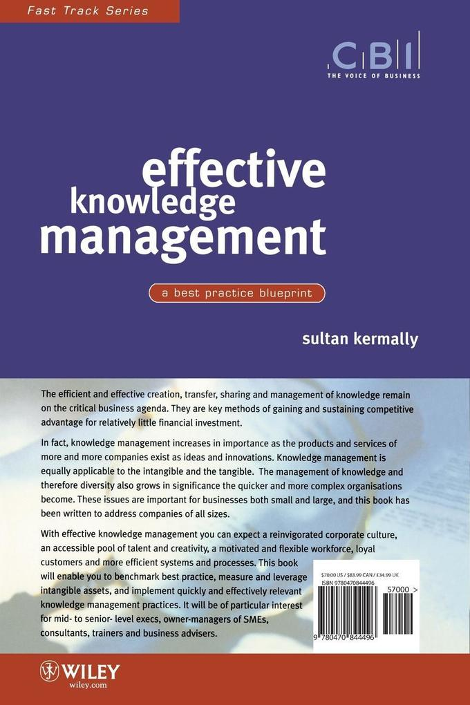 Effective Knowledge Management: A Best Practice Blueprint als Taschenbuch
