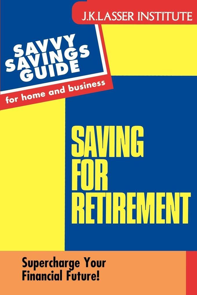 Savings for Retirement als Taschenbuch