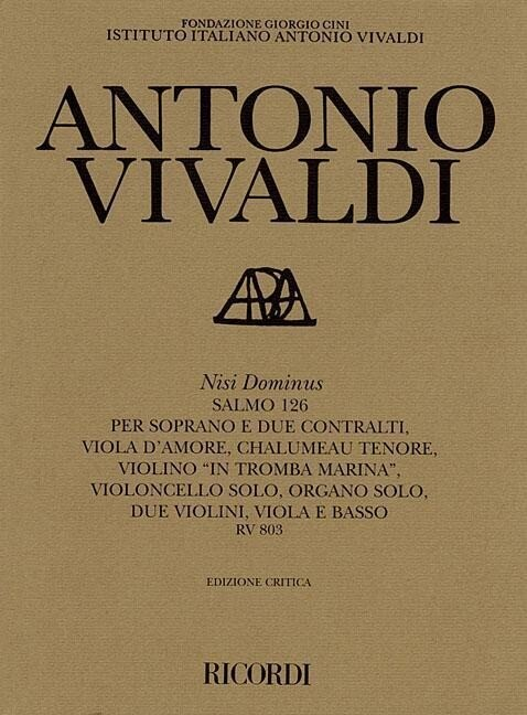 Nisi Dominus Rv803: Critical Edition Score als Taschenbuch