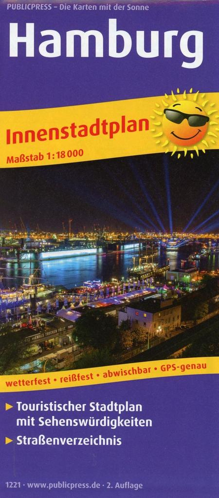 Hamburg. Innenstadtplan als Buch von