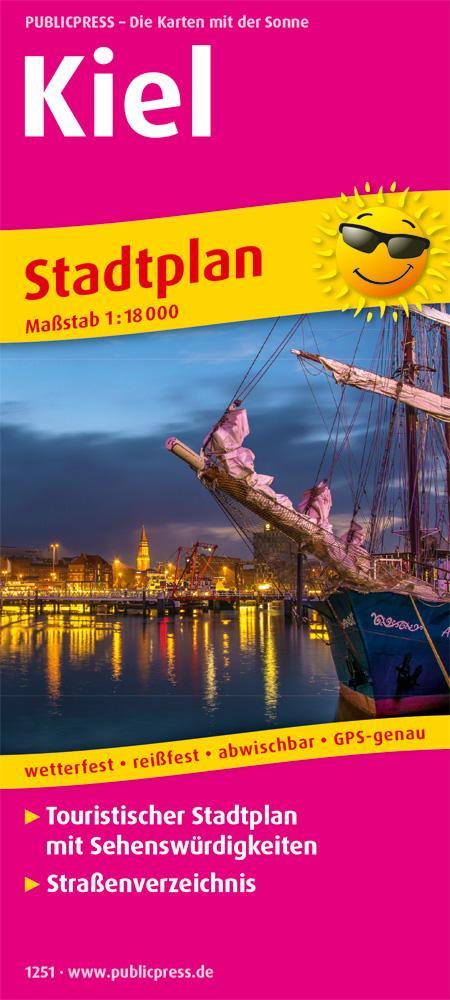 Kiel. Stadtplan als Buch von