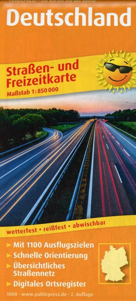 Deutschland. Straßen- und Freizeitkarte 1 : 850...