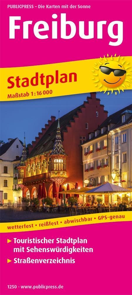 Freiburg. Stadtplan 1:16 000 als Buch von
