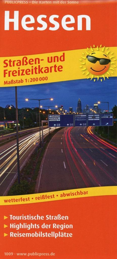 Hessen. Straßen- und Freizeitkarte 1 : 200 000 ...