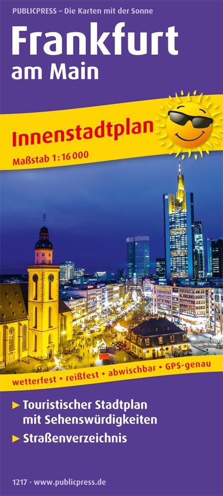 Frankfurt am Main Innenstadtplan 1 : 16 000 als...