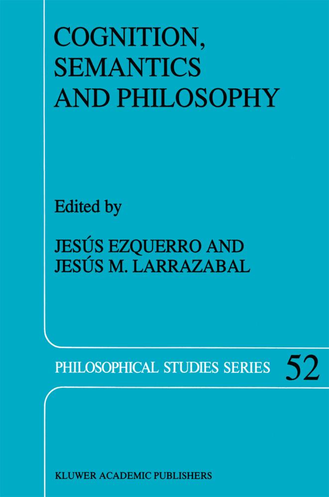 Cognition, Semantics and Philosophy als Buch