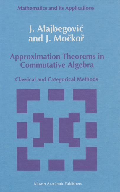 Approximation Theorems in Commutative Algebra als Buch