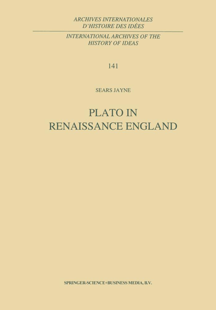 Plato in Renaissance England als Buch