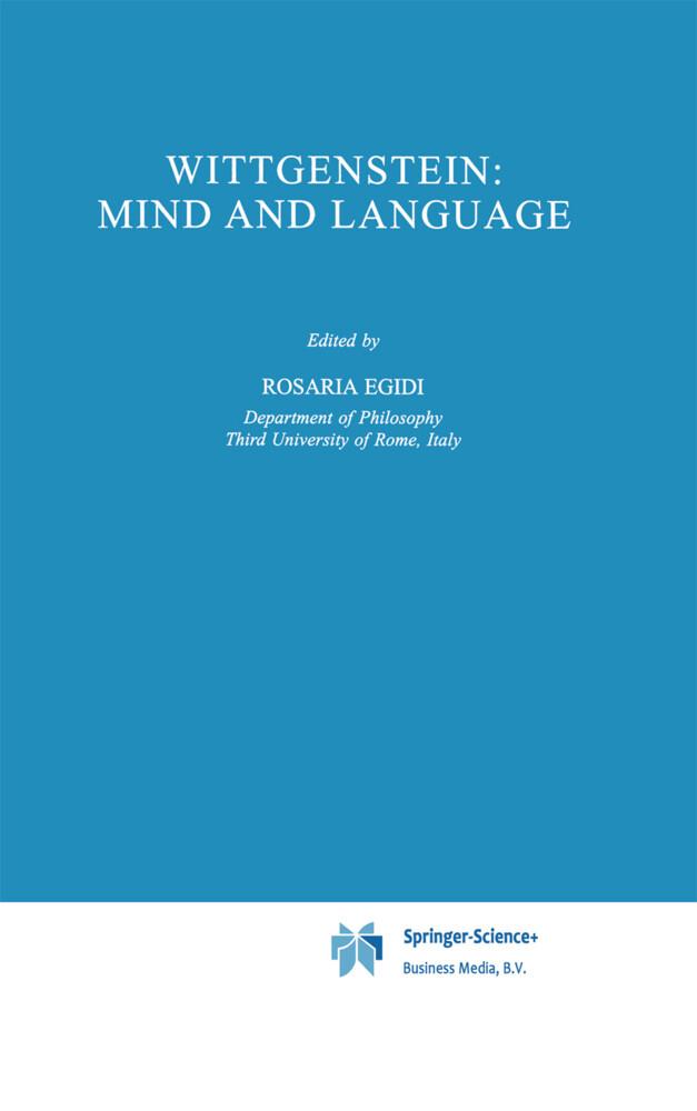 Wittgenstein: Mind and Language als Buch