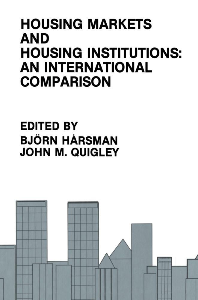 Housing Markets and Housing Institutions: An International Comparison als Taschenbuch