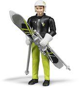 BRUDER bworld - Skifahrer mit Zubehör