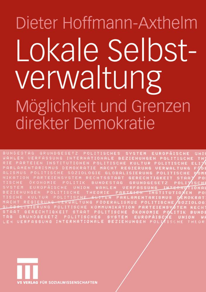 Lokale Selbstverwaltung als Buch von Dieter Hof...