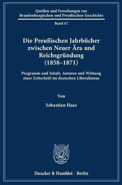Die Preußischen Jahrbücher zwischen Neuer Ära u...