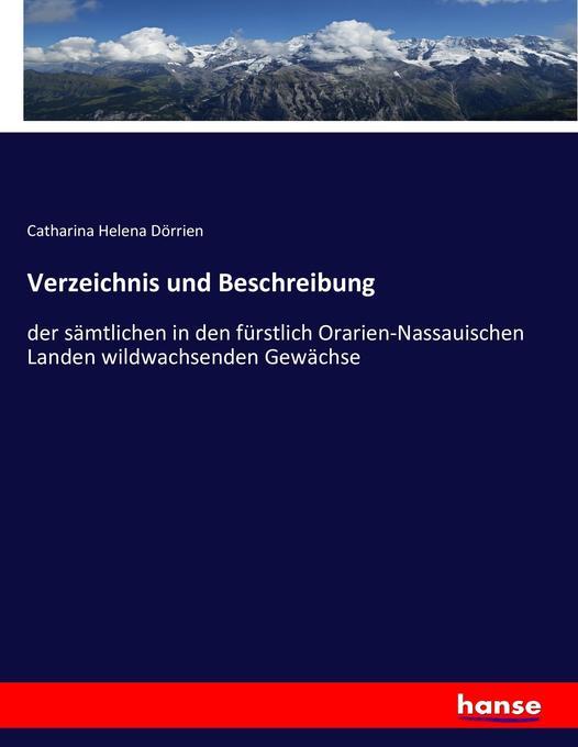 Verzeichnis und Beschreibung als Buch von Catha...