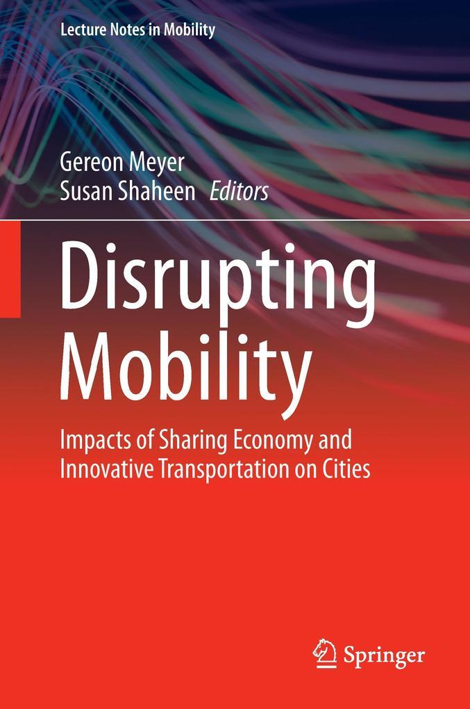 Disrupting Mobility als Buch von