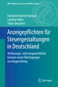 Anzeigepflichten für Steuergestaltungen in Deutschland