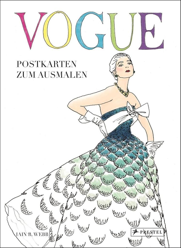 VOGUE - Postkarten zum Ausmalen als Buch von Ia...