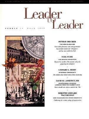 Leader to Leader (Ltl), Volume 14, Fall 1999 als Taschenbuch
