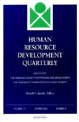 Human Resource Development Quarterly, Number 4, 2001 als Taschenbuch