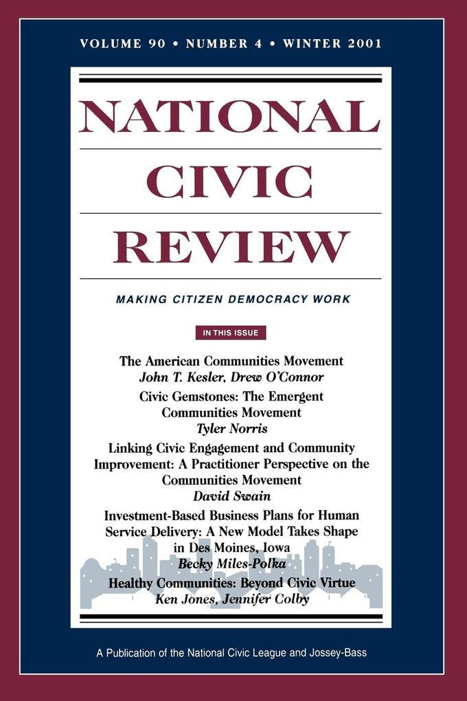 National Civic Review V90 4 Wi als Taschenbuch