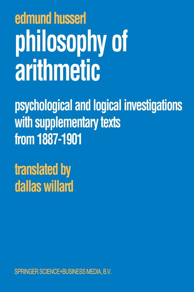 Philosophy of Arithmetic als Buch