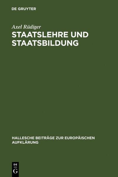 Staatslehre und Staatsbildung als Buch