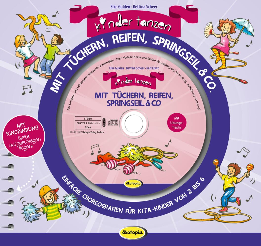 Kinder tanzen mit Tüchern, Reifen, Springseil &...
