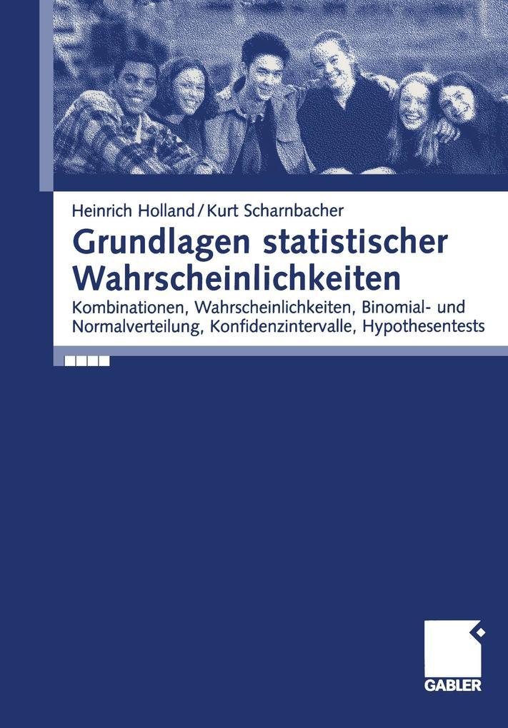 Grundlagen statistischer Wahrscheinlichkeiten als Buch
