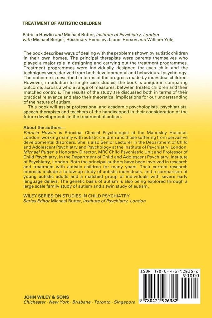 Treatment of Autistic Children als Taschenbuch