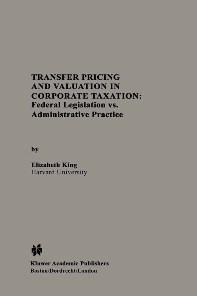 Transfer Pricing and Valuation in Corporate Taxation als Buch