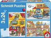 Schmidt Spiele - Puzzle - Feuerwehr und Polizei, 24 Teile