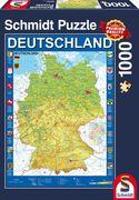 Schmidt Spiele - Puzzle - Deutschlandkarte, 1000 Teile